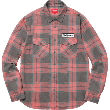 God Bless Plaid Flannel Shirt (Rose)