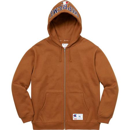 Supreme®/Champion® Arc Logo Zip Up Sweat (Brown)