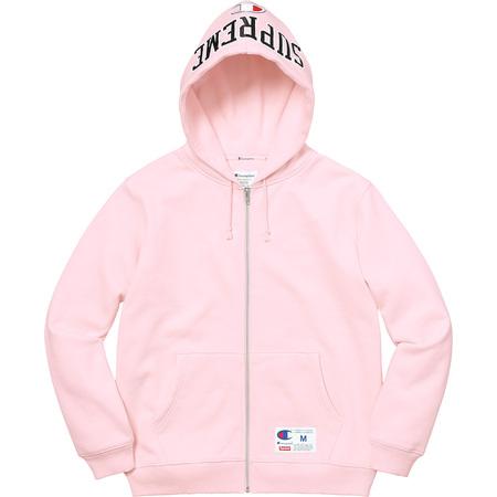 Supreme®/Champion® Arc Logo Zip Up Sweat (Light Pink)