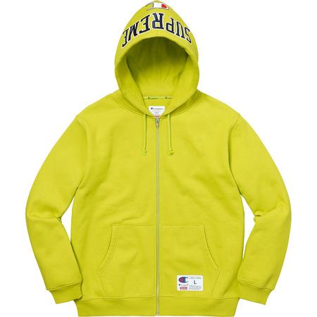 Supreme®/Champion® Arc Logo Zip Up Sweat (Bright Green)