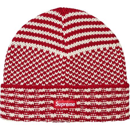 Wool Jacquard Beanie (Red)