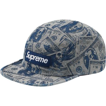 100 Dollar Bill Camp Cap (Blue)