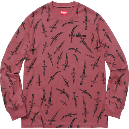 Daggers L/S Top (Dark Pink)