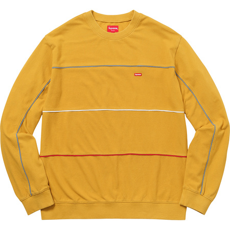 Multicolor Piping Pique Crewneck (Dark Yellow)