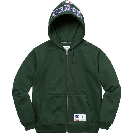 Supreme®/Champion® Arc Logo Zip Up Sweat (Dark Green)