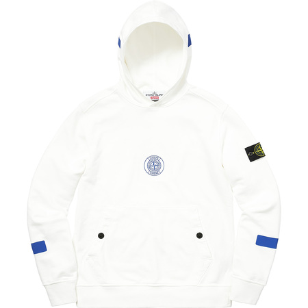 Supreme®/Stone Island® Hooded Sweatshirt (White)