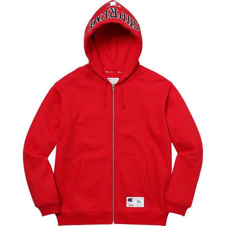 Supreme®/Champion® Arc Logo Zip Up Sweat (Red)