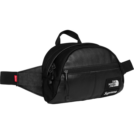 Supreme®/The North Face® Leather Roo II Lumbar Pack (Black)