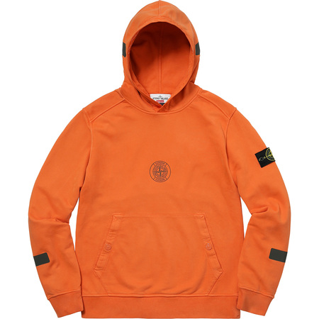 Supreme®/Stone Island® Hooded Sweatshirt (Orange)