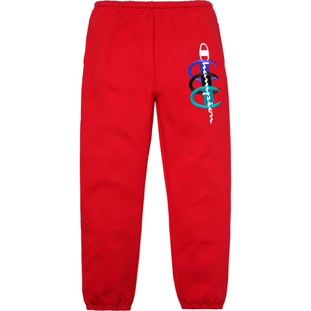 Supreme®/Champion® Stacked C Sweatpant (Red)