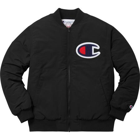 Supreme®/Champion® Color Blocked Jacket (Black)