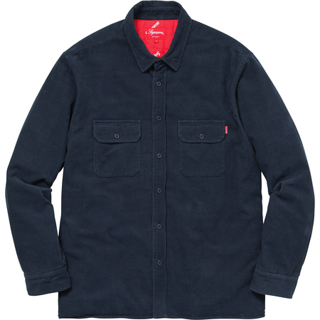 Corduroy Quilted Shirt (Navy)