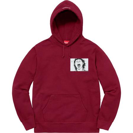 AKIRA/Supreme Patches Hooded Sweatshirt (Cardinal)