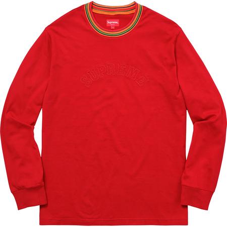 Multicolor Striped Rib L/S Top (Dusty Red)