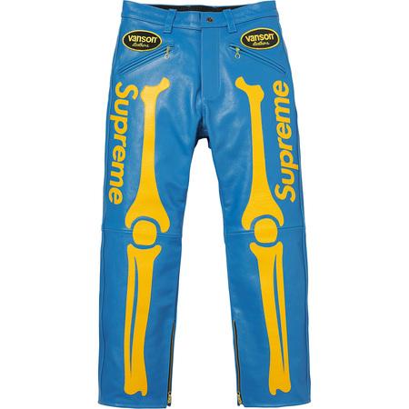 Supreme®/Vanson® Leather Bones Pant (Blue)