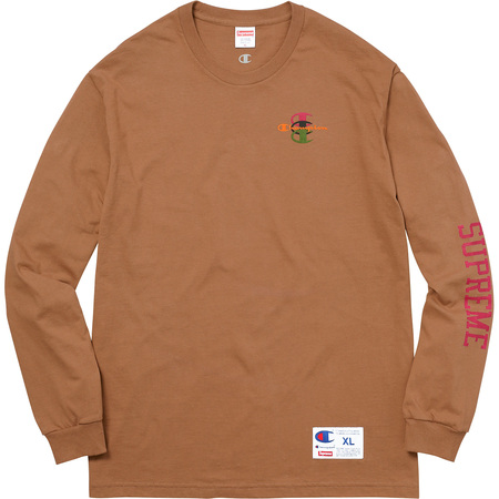 Supreme®/Champion® Stacked C L/S Tee (Brown)