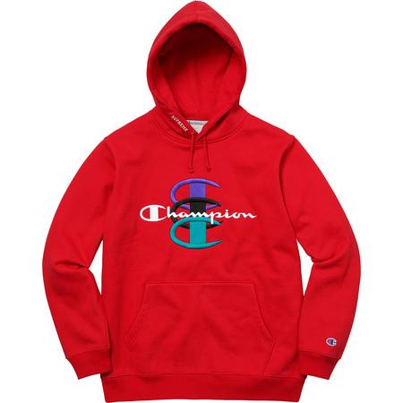 Supreme®/Champion® Stacked C Hooded Sweatshirt (Red)