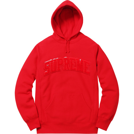 Patent/Chenille Arc Logo Hooded Sweatshirt (Red)