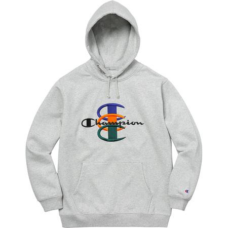 Supreme®/Champion® Stacked C Hooded Sweatshirt (Heather Grey)