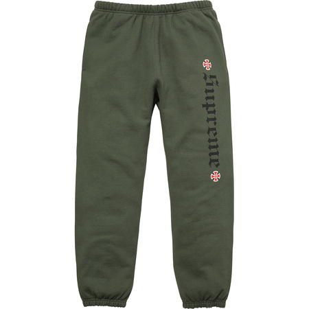 Supreme®/Independent® Fuck The Rest Sweatpant (Olive Green)