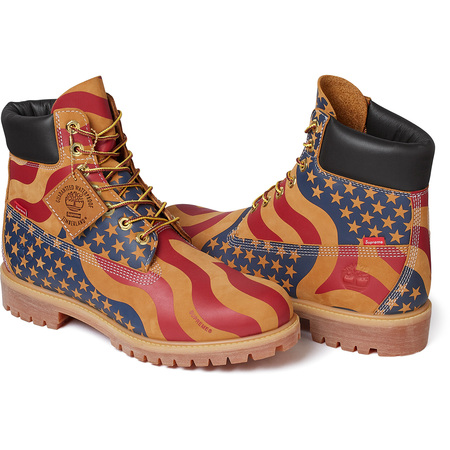 Supreme®/Timberland® Stars and Stripes 6-Inch Premium Waterproof Boot (Wheat)