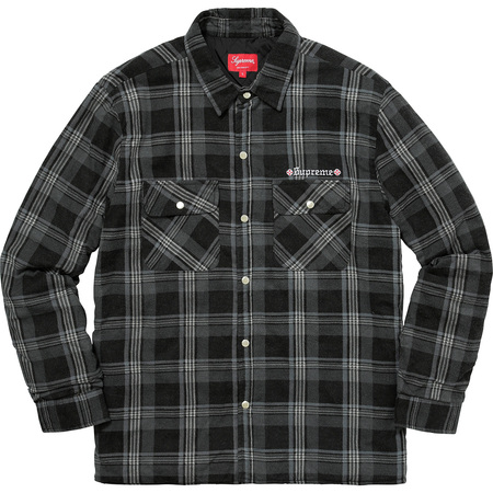 Supreme®/Independent® Quilted Flannel Shirt (Black)