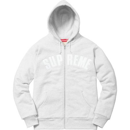 Arc Logo Thermal Zip Up Sweatshirt (Ash Grey)