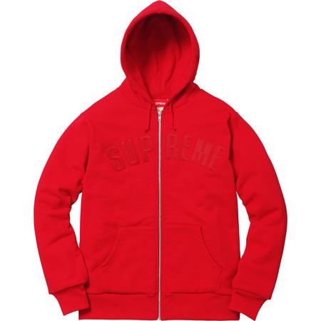 Arc Logo Thermal Zip Up Sweatshirt (Red)