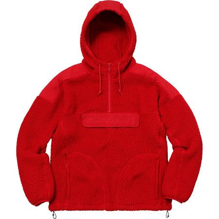 Polartec® Hooded Half Zip Pullover (Red)
