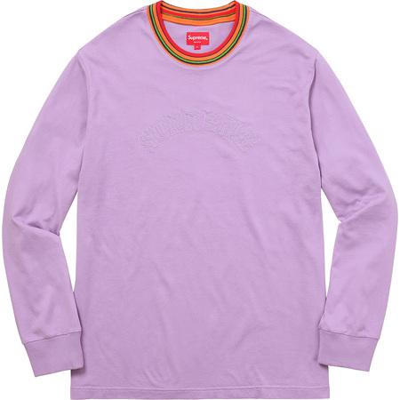 Multicolor Striped Rib L/S Top (Violet)