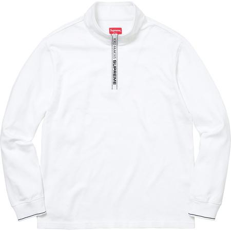 World Famous Half Zip Pullover (White)