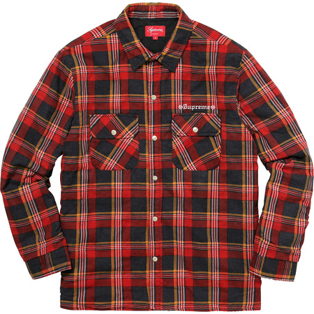 Supreme®/Independent® Quilted Flannel Shirt (Red)