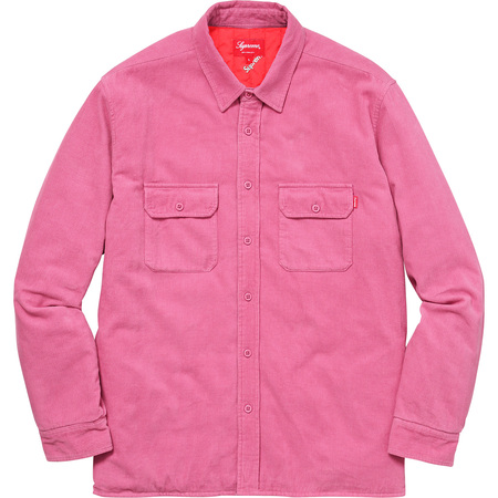 Corduroy Quilted Shirt (Pink)