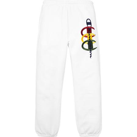 Supreme®/Champion® Stacked C Sweatpant (White)