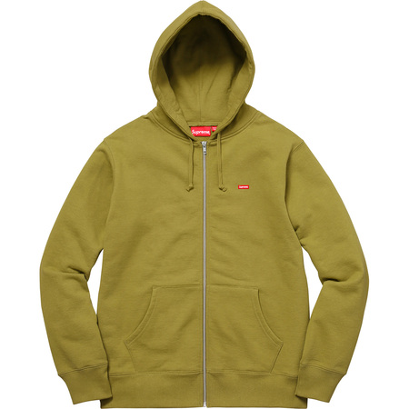 Small Box Zip Up Sweatshirt (Moss Green)