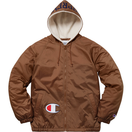 Supreme®/Champion® Sherpa Lined Hooded Jacket (Brown)