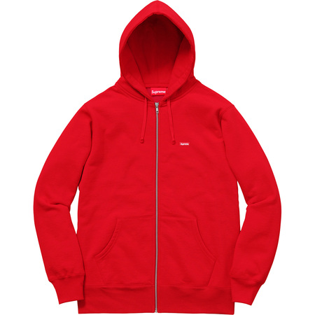 Small Box Zip Up Sweatshirt (Red)
