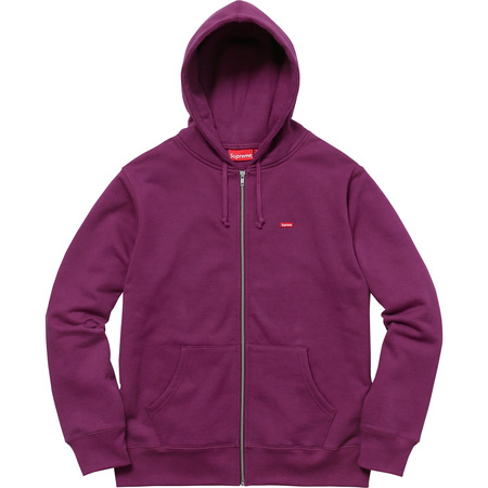 Small Box Zip Up Sweatshirt (Plum)