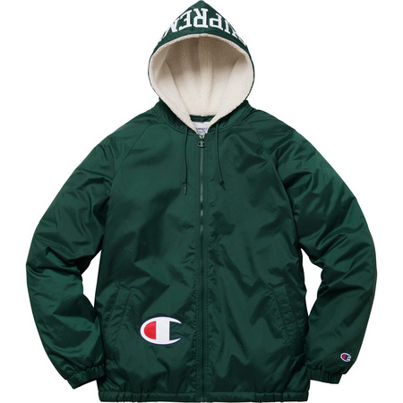 Supreme®/Champion® Sherpa Lined Hooded Jacket (Dark Green)