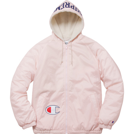 Supreme®/Champion® Sherpa Lined Hooded Jacket (Light Pink)