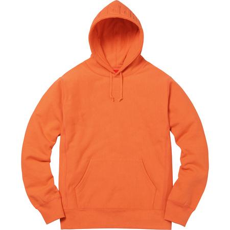 Embossed Logo Hooded Sweatshirt (Bright Orange)