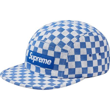 Checkerboard Camp Cap (Blue)