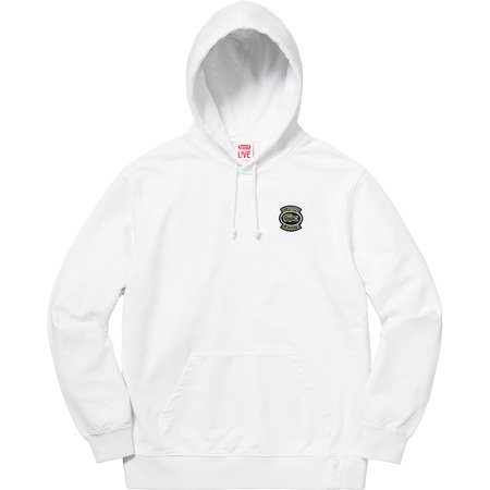 Supreme®/LACOSTE Hooded Sweatshirt (White)