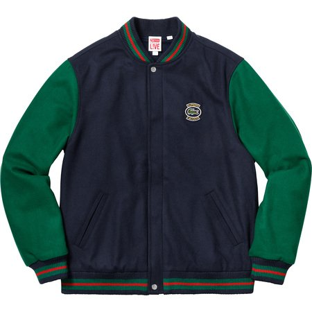 Supreme®/LACOSTE Wool Varsity Jacket (Navy)