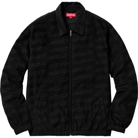 Debossed Logo Corduroy Jacket (Black)