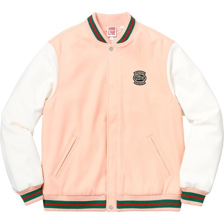 Supreme®/LACOSTE Wool Varsity Jacket (Peach)