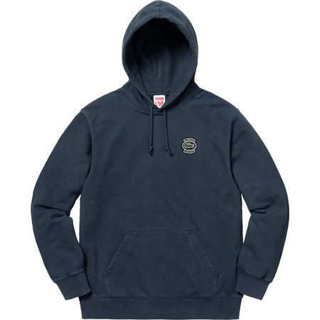 Supreme®/LACOSTE Hooded Sweatshirt (Navy)