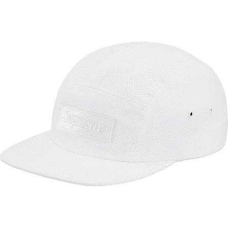 Nylon Pique Camp Cap (White)