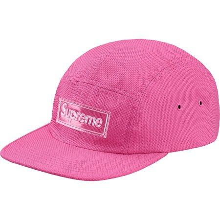 Nylon Pique Camp Cap (Pink)
