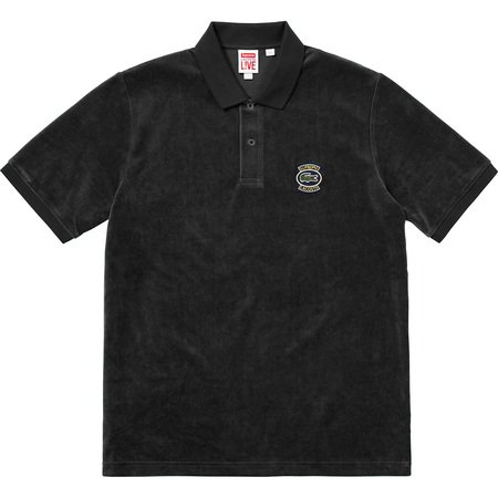 Supreme®/LACOSTE Velour Polo (Black)